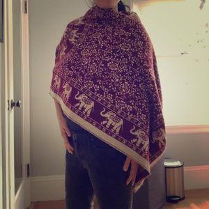 Beautiful wool infinity scarf